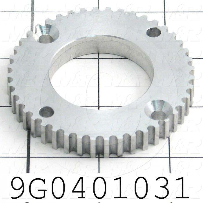 Fabricated Parts, Drive Pulley, 0.375 in. Diameter, 2.76 in. Thickness