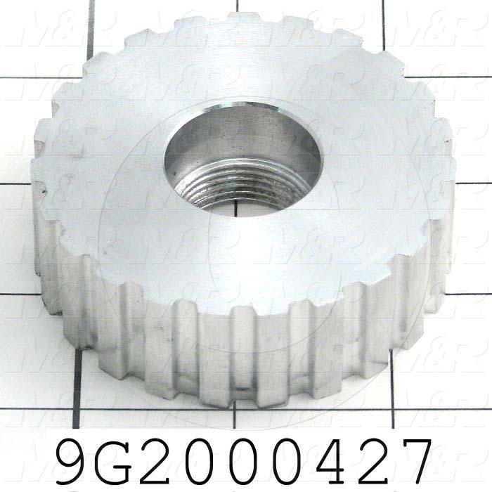 Fabricated Parts, Drive Pully, 0.88 in. Height, 2.71 in. Diameter