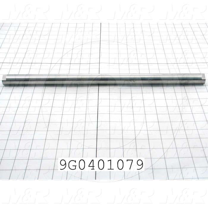 Fabricated Parts, Drive Roller Shaft, 18.90 in. Length, 1.00 in. Diameter, As Material Finish