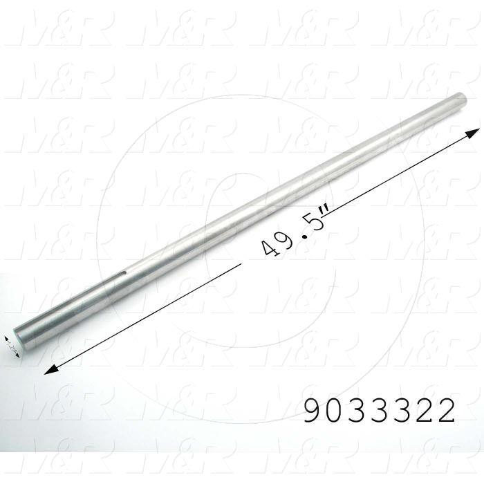 Fabricated Parts, Drive Shaft, 49.50 in. Length, 1.25 in. Diameter