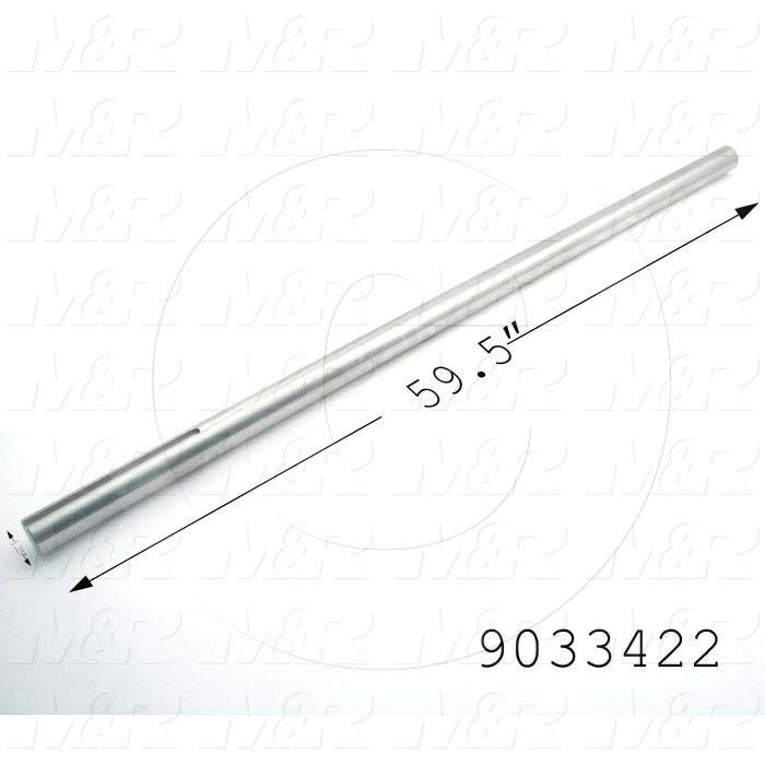 Fabricated Parts, Drive Shaft, 59.50 in. Length, 1.25 in. Diameter