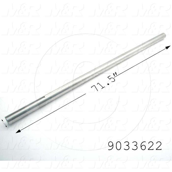 "Fabricated Parts, Drive Shaft 71.5"" V60, 71.50 in. Length, 1.25 in. Diameter"