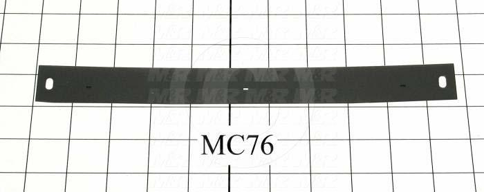 Fabricated Parts, Duct Strip, 10.66 in. Length, 1.13 in. Width, 0.03 in. Thickness