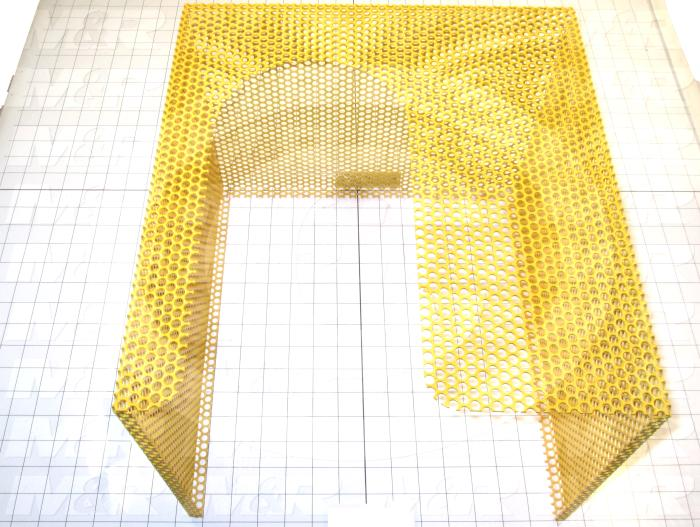Fabricated Parts, Ehaust Duct Cover Weldm., 15.00 in. Length, 13.88 in. Width, 11.00 in. Height, Safety Yellow Finish