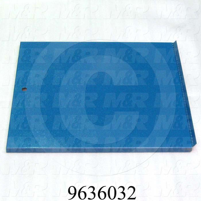 Fabricated Parts, Electric Box Door Weldment, 22.77 in. Length, 21.88 in. Width, 0.75 in. Height, Left Side
