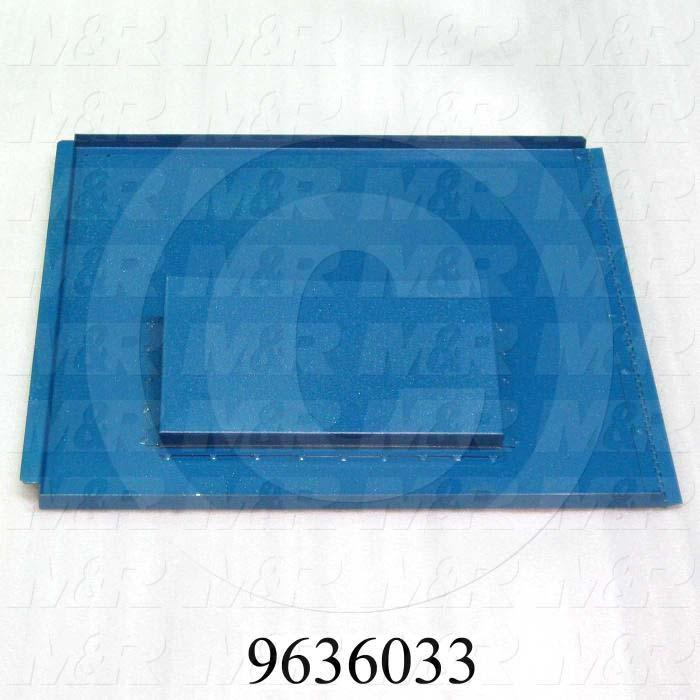 Fabricated Parts, Electric Box Door Weldment, 22.77 in. Length, 21.88 in. Width, 0.75 in. Height, Right Side