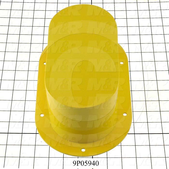 Fabricated Parts, Encoder Cover, 12.00 in. Length, 7.00 in. Width, 4.06 in. Height, Safety Yellow Finish