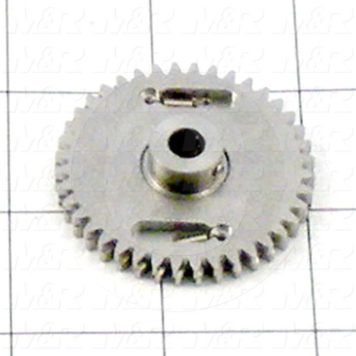 Fabricated Parts, Encoder Gear, 1.75 in. Diameter, 0.43 Thickness, 40 Teeth
