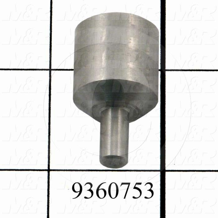 Fabricated Parts, Encoder Mounting Bracket, 1.31 in. Length, 0.75 in. Diameter