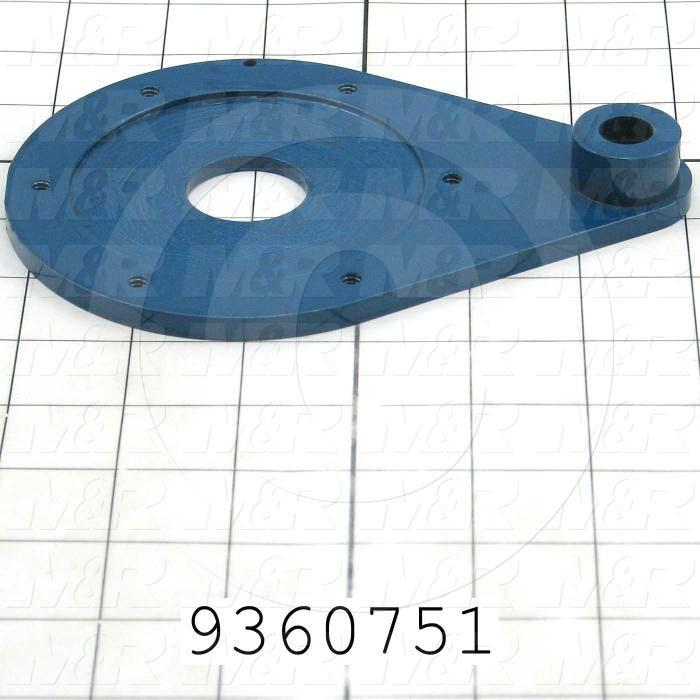 Fabricated Parts, Encoder Mounting Plate, 6.38 in. Length, 4.50 in. Width, 0.75 in. Height