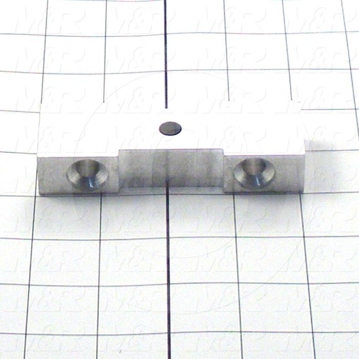 Fabricated Parts, End Block, 4.00 in. Length, 1.28 in. Width, 0.75 in. Thickness, Do Not Anodize