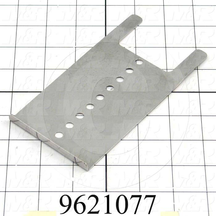 Fabricated Parts, Exhaust Adjustment Plate, 6.25 in. Length, 3.19 in. Width, 0.38 in. Height