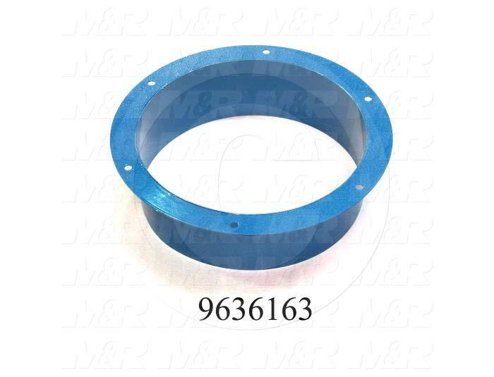 Fabricated Parts, Exhaust Flange Weldment, 4.00 in. Length, 14.44 in. Diameter