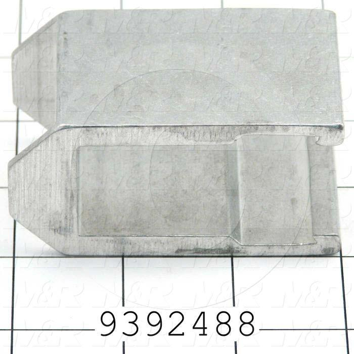 Fabricated Parts, Extrusion Aluminum Big Clamp Bar, 3.03 in. Length, 1.75 in. Width, 1.53 in. Height