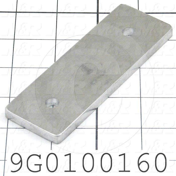 Fabricated Parts, Extrusion End Mounting Plate, 4.63 in. Length