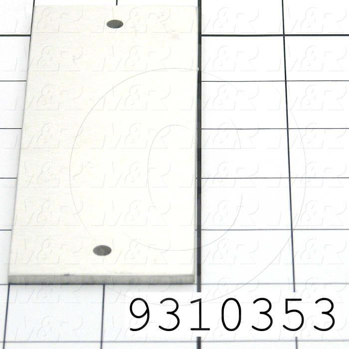 Fabricated Parts, Extrusion Side Cover, 5.50 in. Length, 1.97 in. Width, 0.11 in. Thickness