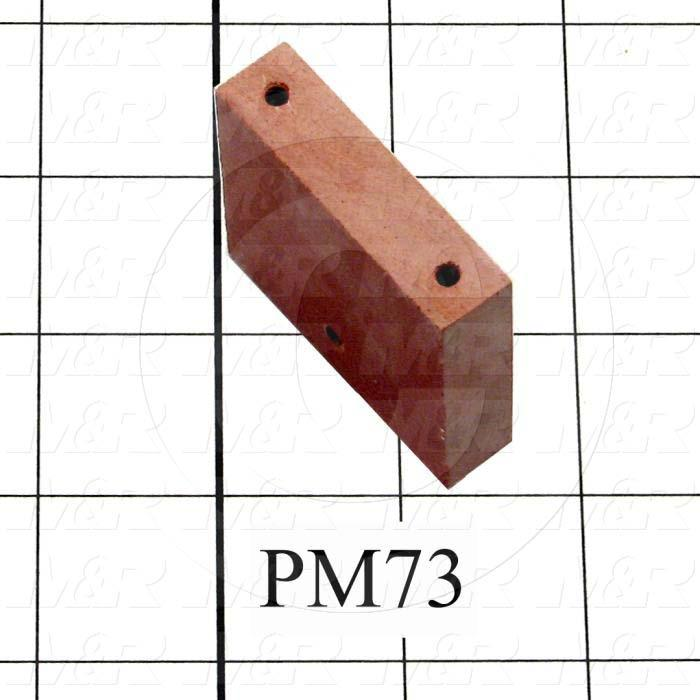 Fabricated Parts, Female Contact Mounting, 2.00 in. Length, 1.81 in. Width, 0.50 in. Thickness