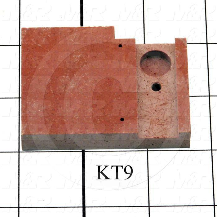 Fabricated Parts, Female Contact Mounting, 2.63 in. Length, 2.00 in. Width, 0.50 in. Thickness