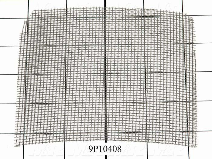 Fabricated Parts, Filter Mesh Square, 4.69 in. Length, 4.69 in. Width, 0.025 in. Thickness