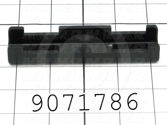 Fabricated Parts, Flash C-Channel, 4.52 in. Length, 1.00 in. Width, 0.75 in. Height