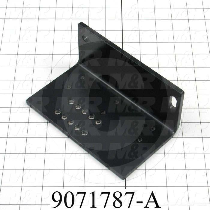 Fabricated Parts, Flash Mounting Angle Right Side, 7.13 in. Length, 4.17 in. Width, 3.13 in. Height