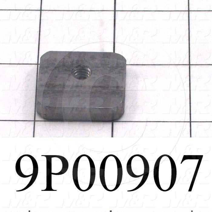 Fabricated Parts, Flat Nut, 1.25 in. Length, 1.00 in. Width, 1/4 in. Thickness