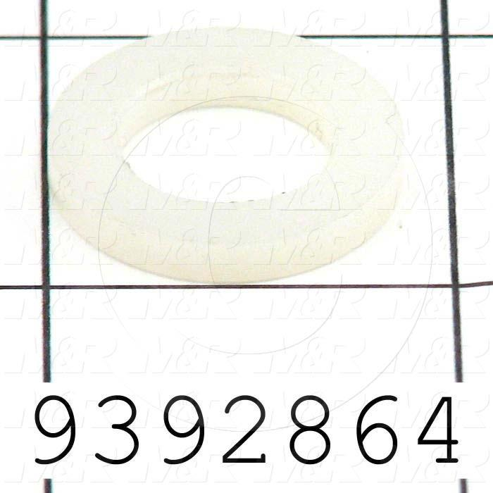 Fabricated Parts, Flat Washer, 0.88 in. Diameter, 0.13 in. Thickness