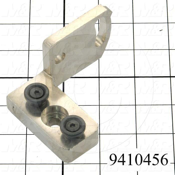 Fabricated Parts, Flood Bar Mounting Bracket, 3.65 in. Length, 2.56 in. Width, 1.88 in. Height, Left Side