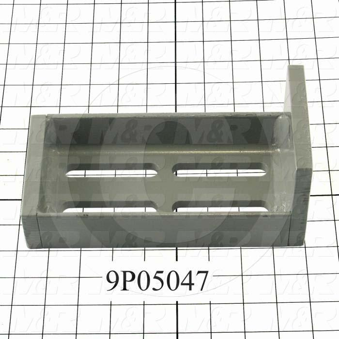 Fabricated Parts, Floor Mounting Bracket, 8.50 in. Length, 4.00 in. Width, 4.00 in. Height
