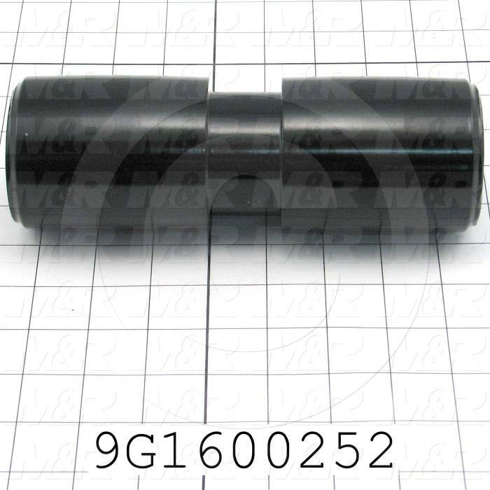 Fabricated Parts, Fold Belt Drive Roller Split Belt, 7.50 in. Length, 2.75 in. Diameter, Semi-Gloss Black Finish