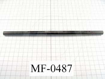 Fabricated Parts, Fold Belt Drive Shaft, 23.50 in. Length, 1.00 in. Diameter