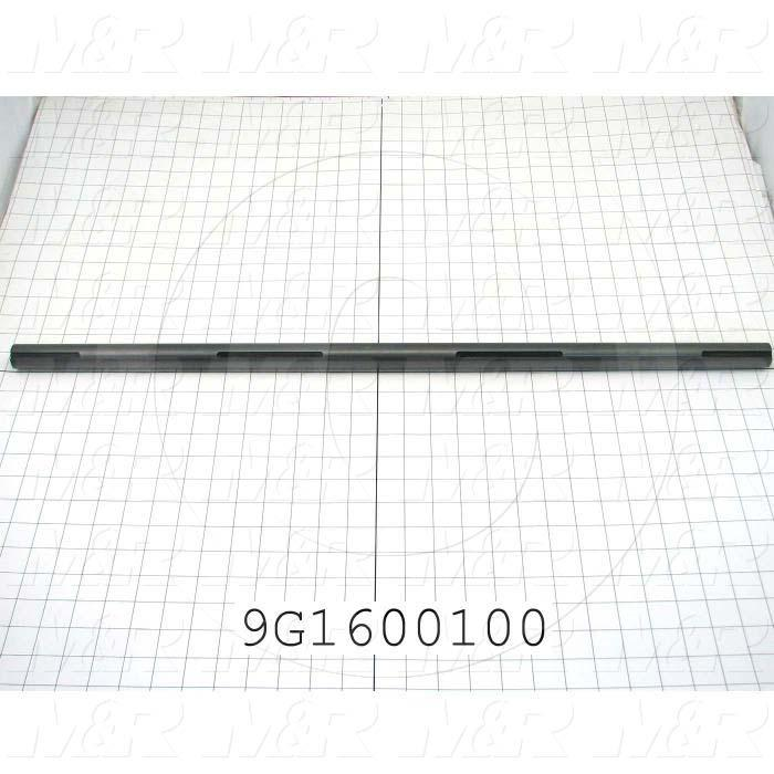 Fabricated Parts, Fold Belt Roller Shaft, 30.00 in. Length, 1.00 in. Diameter, Black Oxide Finish