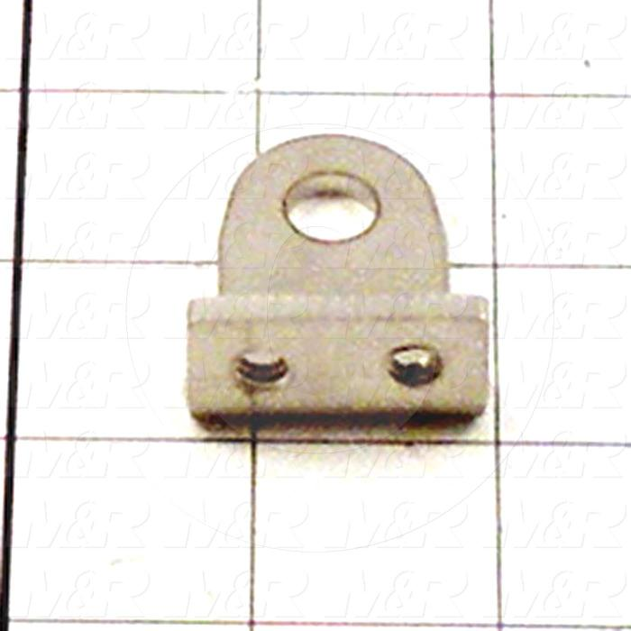 Fabricated Parts, Fork Cylinder Clevis, 1.63 in. Length, 1.25 in. Width, 0.75 in. Height, Rear Side