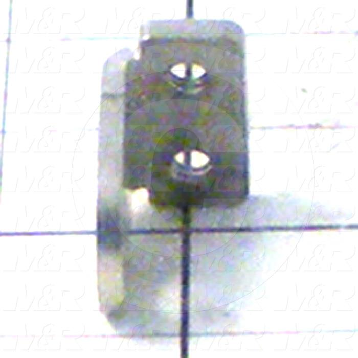 Fabricated Parts, Fork Cylinder Rear Clevis, 1.25 in. Length, 0.75 in. Width, 1.38 in. Height