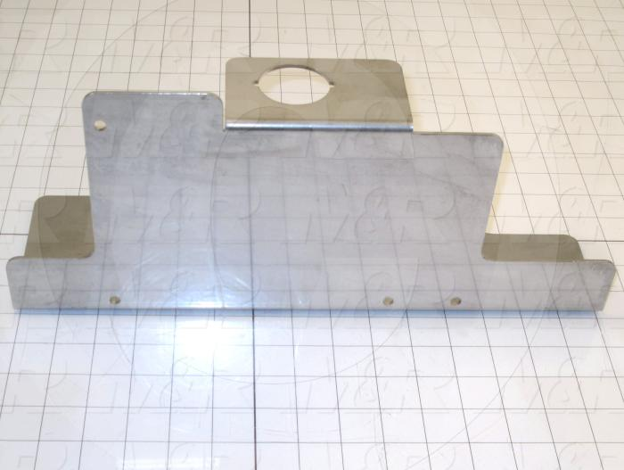 Fabricated Parts, Frl Como Bracket, 15.25 in. Length, 6.77 in. Width, 4.50 in. Height, 12 GA Thickness, As Material Finish