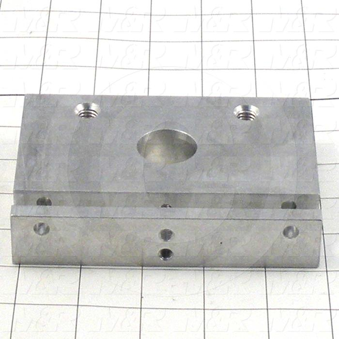 "Fabricated Parts, Front End Plate 3.563""X 5""Lg T, 5.00 in. Length, 3.56 in. Width, 1.00 in. Thickness"