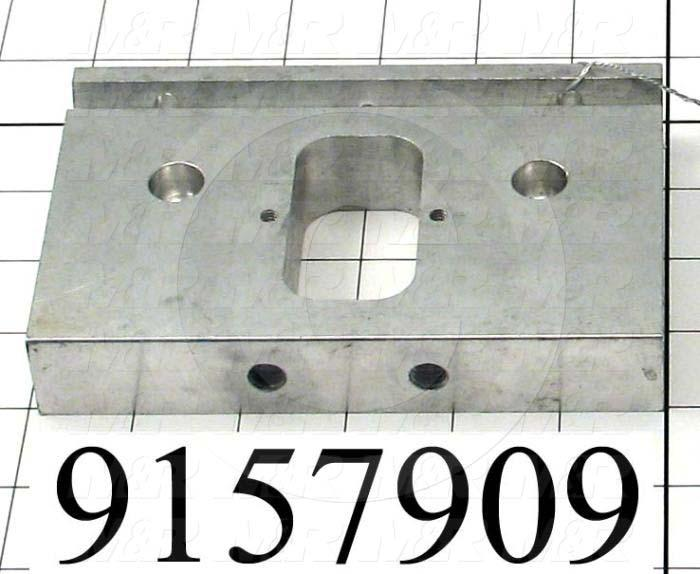 Fabricated Parts, Front End Plate, 5.88 in. Length, 3.26 in. Width, 1.00 in. Thickness