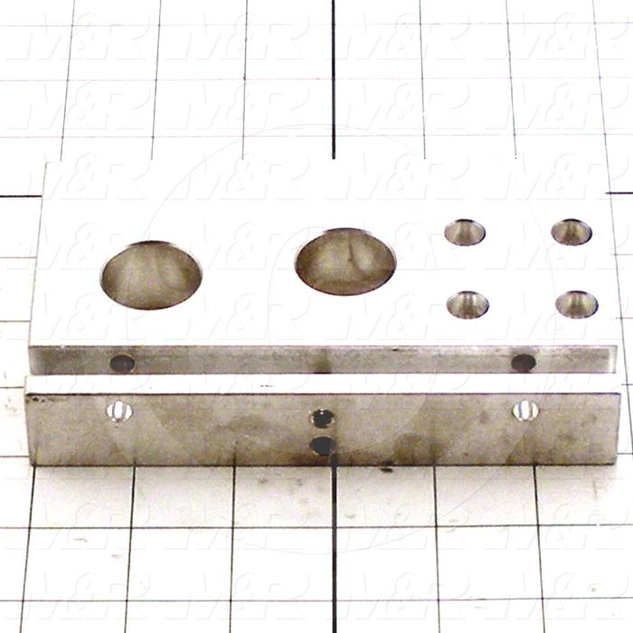 Fabricated Parts, Front End Plate, 5.88 in. Length, 3.56 in. Width, 1.00 in. Height