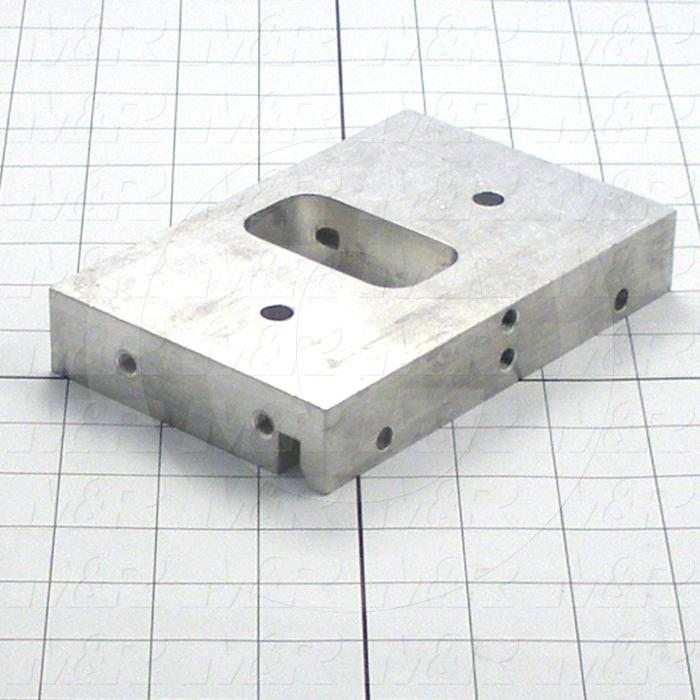 Fabricated Parts, Front End Plate, 5.88 in. Length, 3.81 in. Width, 1.00 in. Height