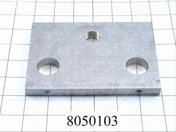 Fabricated Parts, Front End Plate, 5.88 in. Length, 4.00 in. Width