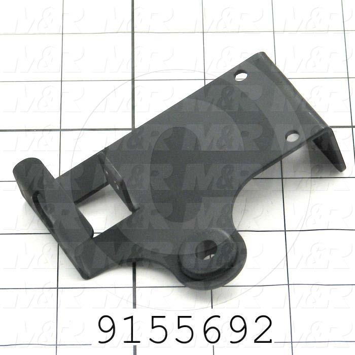 Fabricated Parts, Front Head Str Prox Mtg Bracket, 3.91 in. Length, 3.00 in. Width, 1.78 in. Height, 14 GA Thickness, Coating Powder Black Finish