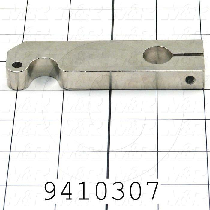 Fabricated Parts, Front Peel Leveler weld, 4.25 in. Length, 1.13 in. Width, 0.50 in. Thickness, Nickel Plated Finish