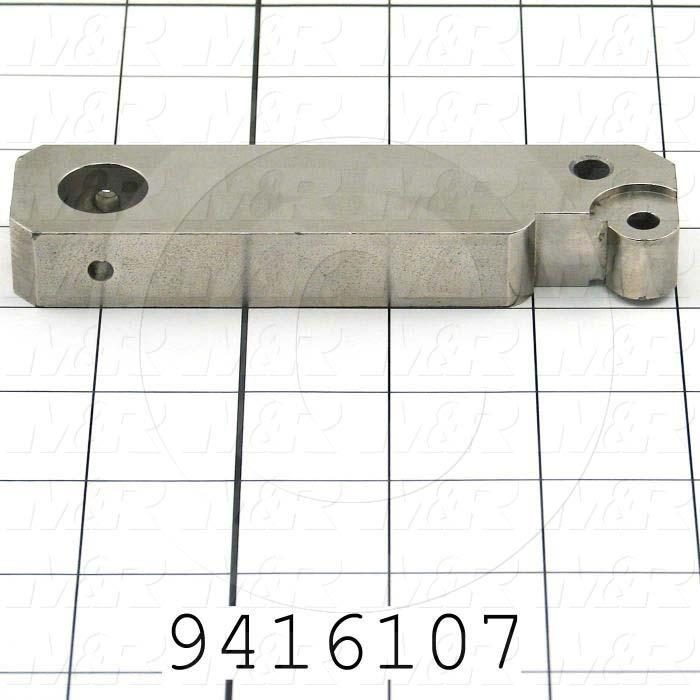 Fabricated Parts, Front Peel Lever, 4.88 in. Length, 1.13 in. Width, 0.50 in. Height, OC50001 Nickel Plating Finish