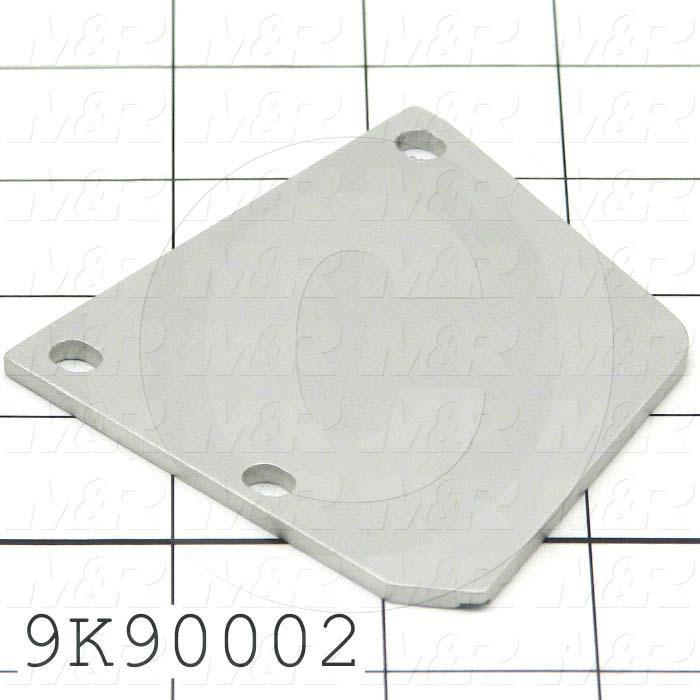 Fabricated Parts, Front & Rear Left Side Plate, 3.00 in. Length, 3.00 in. Width, 0.13 in. Thickness