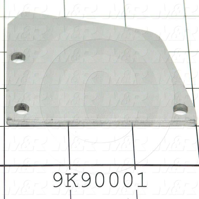 Fabricated Parts, Front & Rear Right Side Plate, 3.00 in. Length, 3.00 in. Width, 0.13 in. Thickness