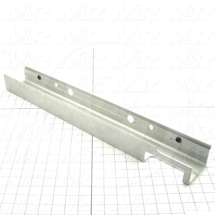 Fabricated Parts, Front Scrn Hldr For Air Locksc, 25.00 in. Length, 3.35 in. Width, 2.37 in. Height, As Material Finish