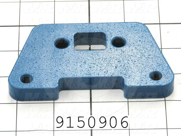 Fabricated Parts, Front Spacer, 4.50 in. Length, 2.50 in. Width, 0.50 in. Thickness, Painted Blue Finish