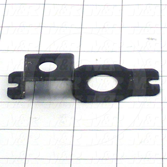 Fabricated Parts, Gauge Bracket, 3.55 in. Length, 1.41 in. Width, 0.55 in. Height