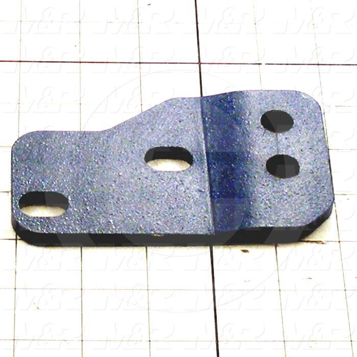 Fabricated Parts, Gearbox Low Mount Bracket, 5.04 in. Length, 3.04 in. Width, 0.40 in. Height, 1/4 in. Thickness, Painted Blue Finish