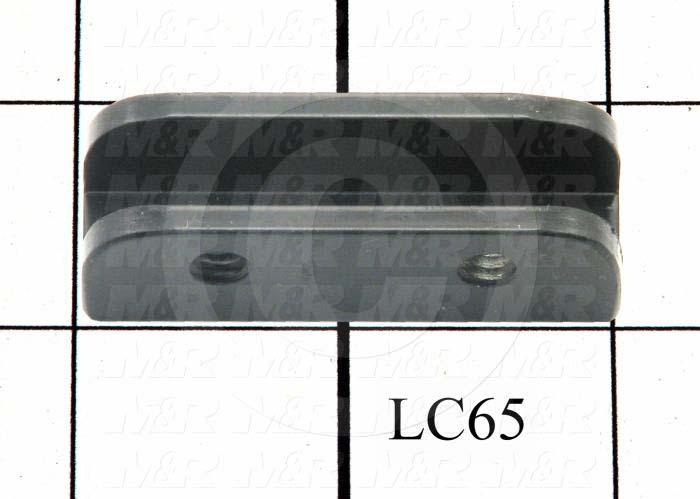 Fabricated Parts, Glass Clamp, 2.00 in. Length, 0.63 in. Width, 0.63 in. Height, 0.13 in. Thickness, Black Finish